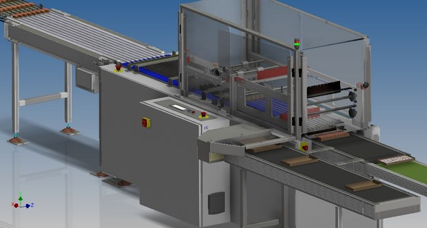 Flight bar tray loader CAD